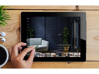 In the window: homepage (tablet) app responsive tablet