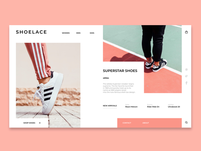 Shoelace Webpage - web design concept