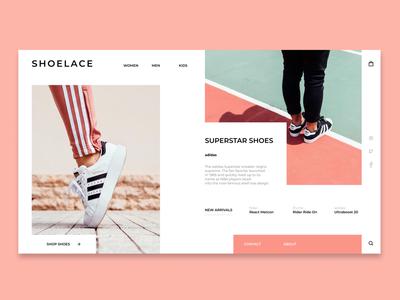 Shoelace Webpage - web design concept