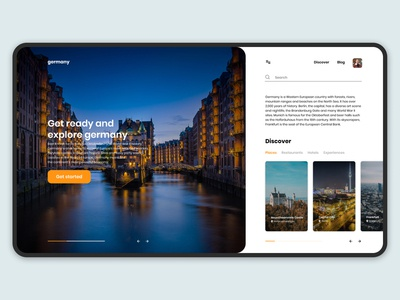 Germany Travel Web Concept
