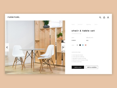 furniture online shop webdesign