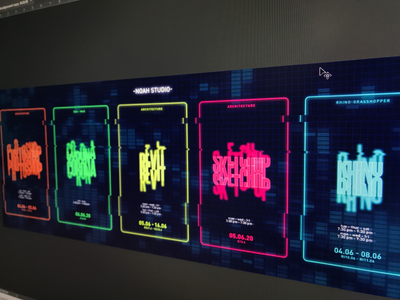 Poster Art 06 game art poster art architecture neon light logo illustration poster design photoshop layout typography artwork