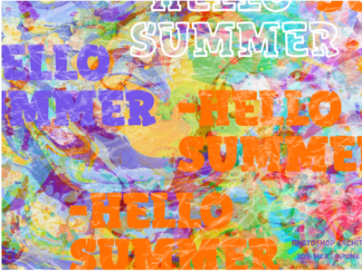 Hello Summer illustration poster art vector architecture mockup photoshop branding layout typography artwork