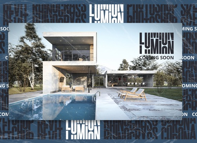 Cover Poster Lumion #03 architecture poster design branding photoshop typography layout artwork