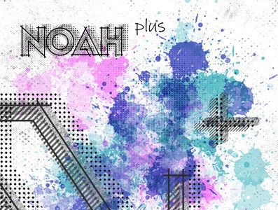 Noah Plus #01 poster art typography logo layout photoshop artwork