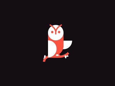 Cute Owl logo - colorful concept owl illustration owl logo owl bird vector shape icon illustration mark logo branding