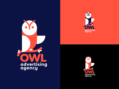 OWL Logo concept agency advertising mark logo design icon bird owl logo owl