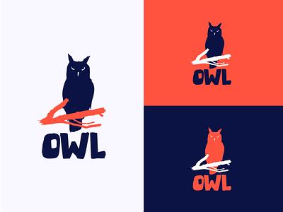 OWL logo concept V.2 sign icon shapes brandidentity bird shape vector logo mark branding