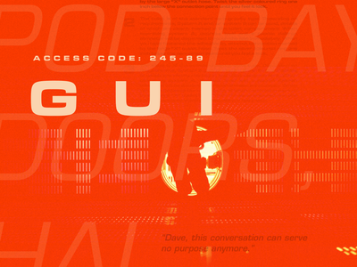 2001: Space Odyssey type exploration hal-9000 space typography creative design type