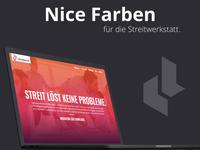 Webdesign & Farbkonzept für Die Streitwerkstatt