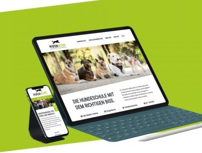 Webdesign für Pfotenrevier Hundeschule
