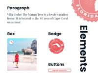 Web Elements für Villas of Paradise
