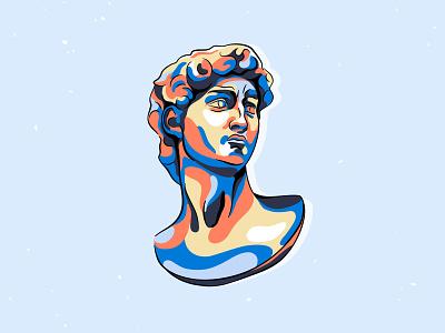 David abstract spot antique art statue sculpture head david