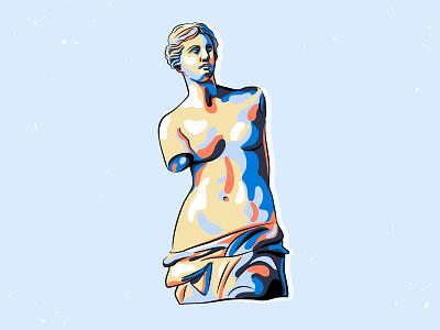 Venus abstract spot antique art body sculpture statue venus