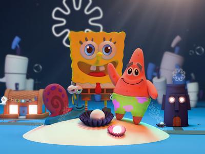 Bob Sponge Crew! #3D illustration cinema4dart zbrush pixlogic zbrush inspire inspiration design cinema4d c4d
