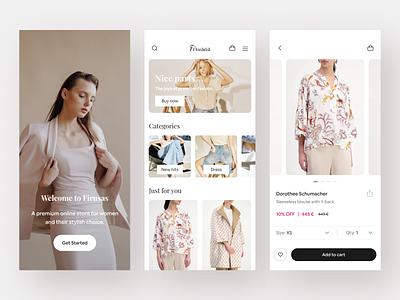 Ecommerce - Mobile App mobile mobile app online shop shop online store store clothing app fashion app ecpmmerce app clothing fashion ecommerce e-commerce