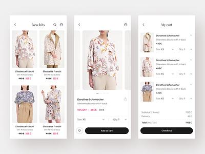 Ecommerce - Mobile App hafiz rana hafiz mobile minimal mobile app shop app store app shop store online store clothing app fashion app ecommerce app clothing fashion e-commerce ecommerce