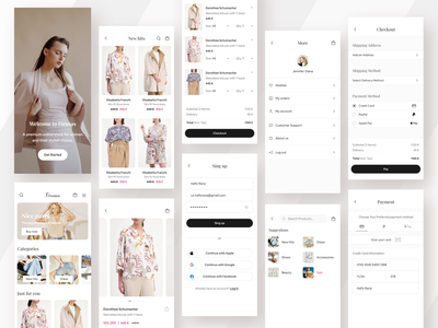 Ecommerce - Mobile App mobile design mobile minimal mobile app online shop online store clothing app chothing fashion app fashion store store app shop app shop e-commerce e-commerce app ecommerce
