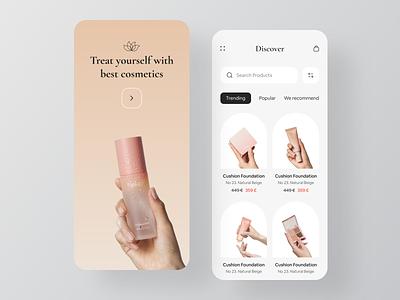 Ecommerce - Mobile App fashion e-commerce ecommerce ecommerce app fashion app cosmetics store online store shop online shop mobile mobile app