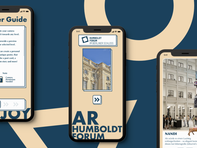 Humboldt Forum AR proposal (official) illustrator illustration typography ux ui design branding art ar app