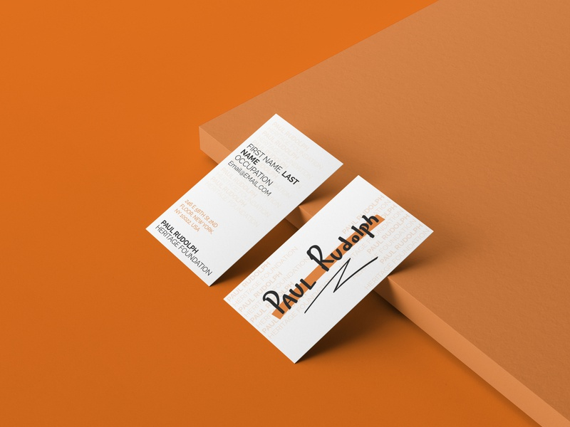 Paul Rudolph Heritage Foundation business card design minimal flat icon logo art illustration illustrator typography branding design business card