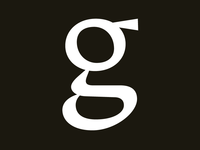Lowercase g from in-progress type design