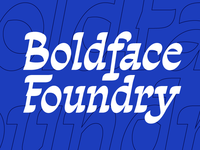 Boldface Foundry Wordmark