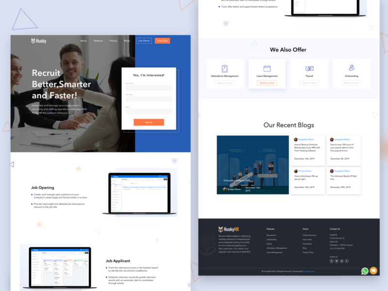 Campaign Landing page flat ux website minimal design logo vector branding ui illustration