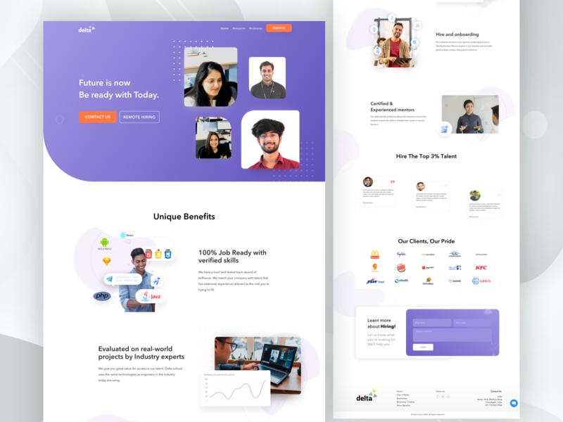 Hiring website typography web ux ui branding design