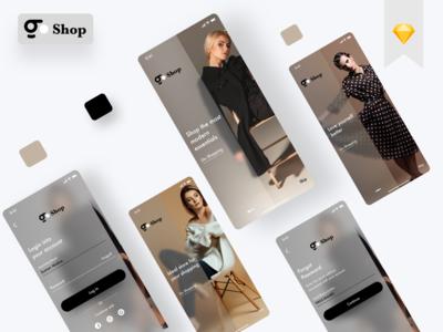 E commerce Onboarding minimal logo design branding app ui