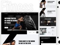 Fitness web web ui design typography