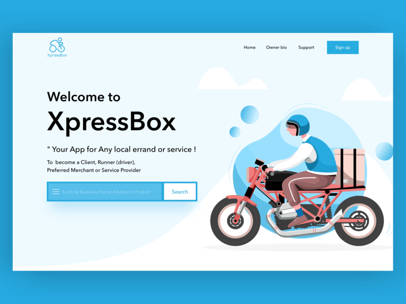 XpressBox dribbble design illustration vector website ui