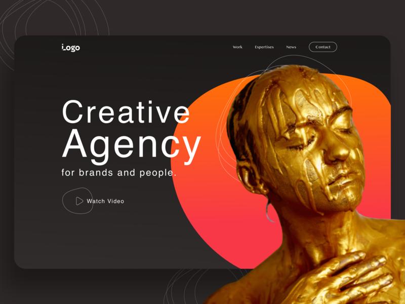 Creative agency typography design website
