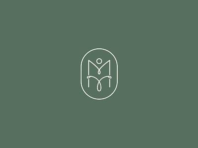 Personal Monogram design logo typography branding