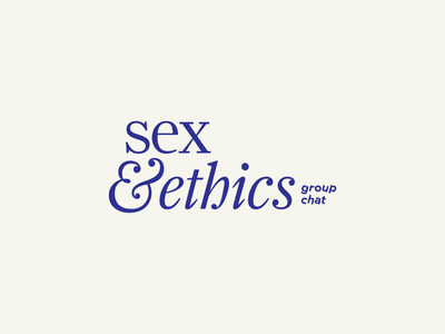 Sex & Ethics typography logo design branding