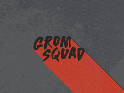 Grom Squad branding illustration logo typography design
