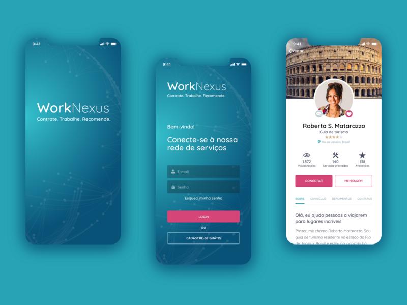WorkNexus Mobile App Concept Design ux design ui design mobile design mobile ui mobile app