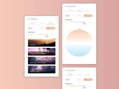 DailyUI  #007 - Settings color picker settings hue smart lights smarthome smart figma 007 app design ui dailyui 100days