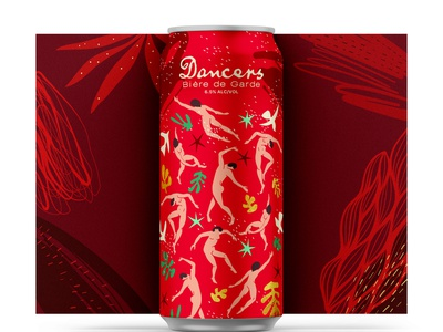 12 Days of Brewing :: 9 People Dancing dancers fauvism vector illustration design branding beer can design beer cans beer can cpg art history matisse