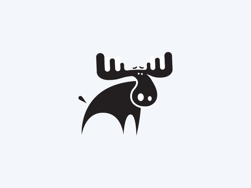 Moose moose animal forest caribou pictogram fun