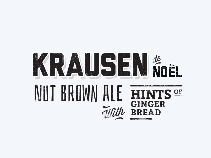 Krausen beer logo vintage christmas type typography insignias