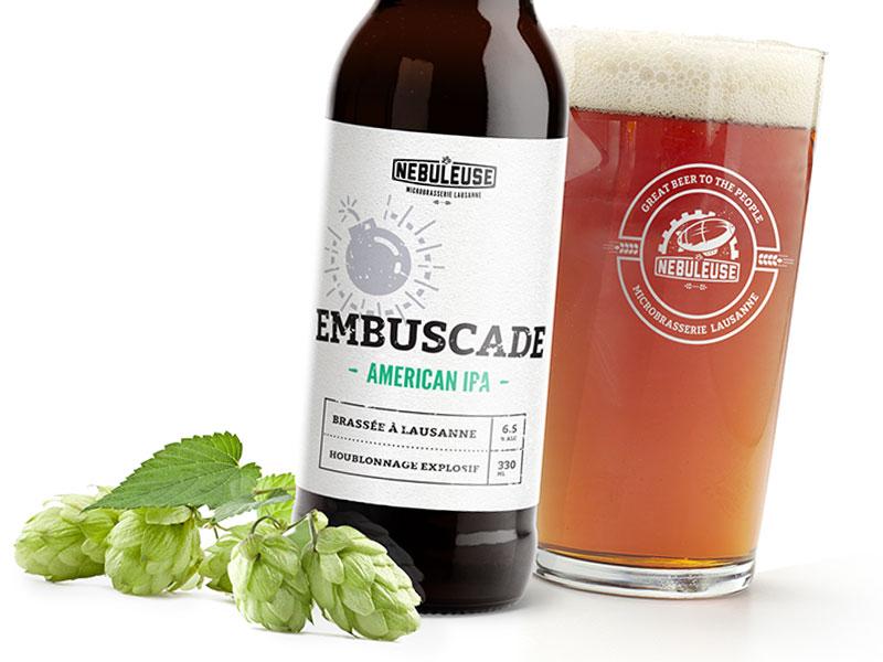 Nebuleuse02 beer craft label bottle nebuleuse embuscade hop