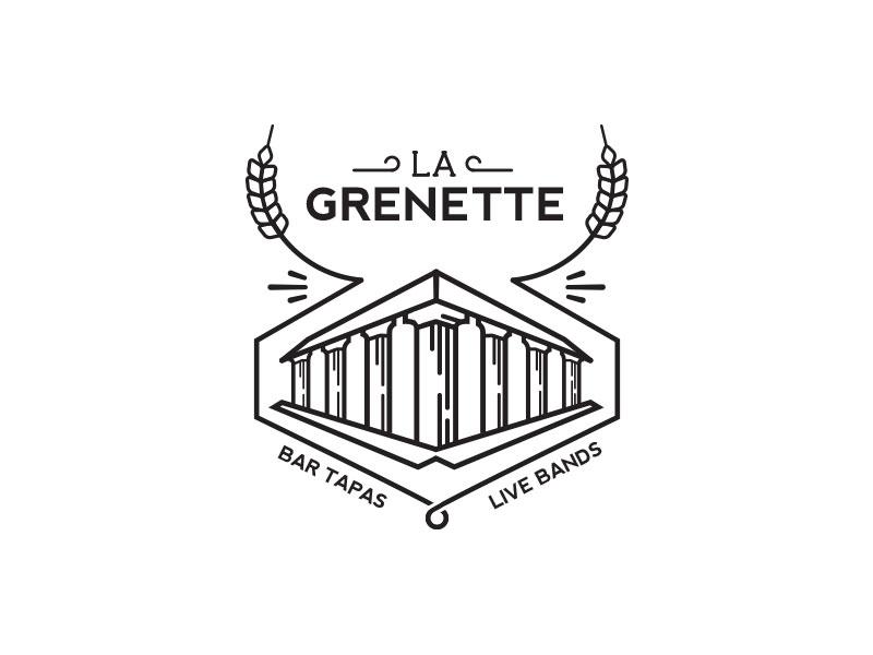 Grenette restaurant bar tapas logo roman building history wheat grain beer