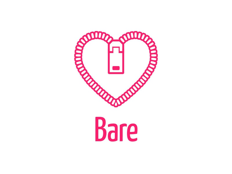 Bare bare logo feelings heart symbol love naked