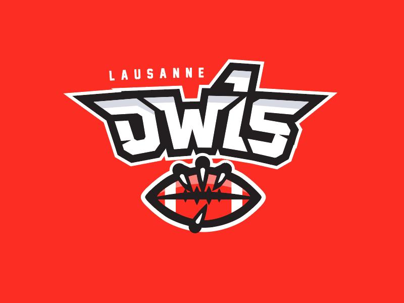 Lausanne Owls Football Logo sport switzerland logo football owls