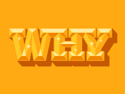 Why shadow chisel illustration why gold shiny 3d bevel type lettering