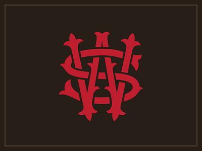Stoll & Wolfe Mongram type lettering logo identity sw monogram