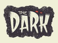 The Dark sticker halloween lettering horror fear afraid dark