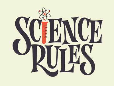 Science Rules atomic lettering bill nye rules science