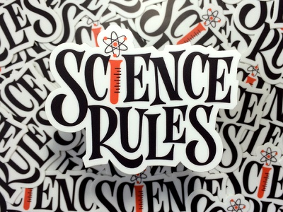 Science Rules Sticker sticker mule type lettering sticker rules science